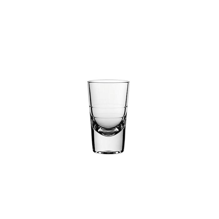 Bicchiere shot Grande 2 tacche in vetro cl 11