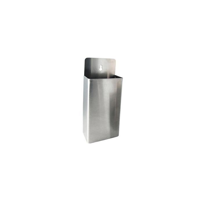 Contenitore porta tappi da muro in acciaio cm 8x14