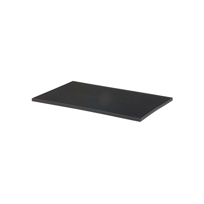 Tappetino/service bar mat gomma 45x30,5cm nero