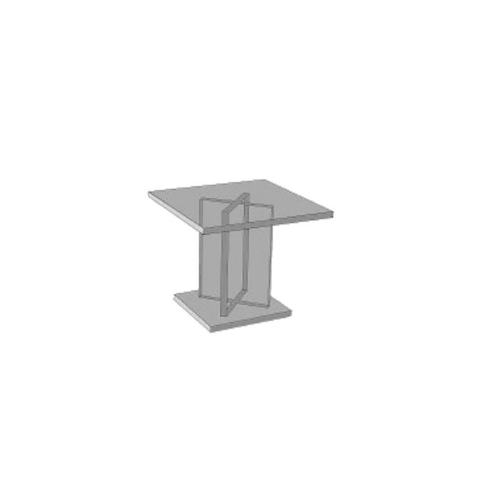 Alzata dalla forma quadrata in plexiglass cm 15 X 15 X 10