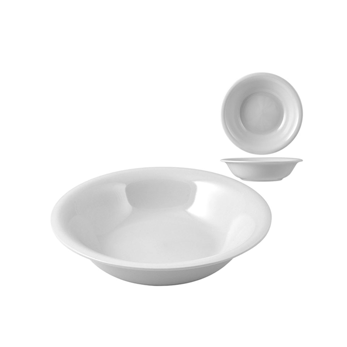 Piatto a calotta in porcellana bianco cm 16