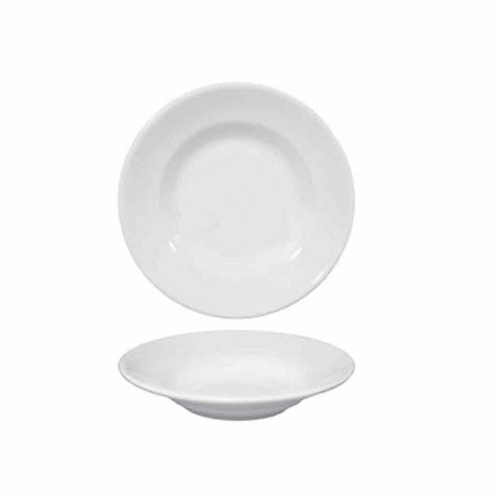 Piatto fondo in porcellana bianco cm 23,5