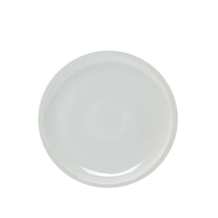 Piatto piano Roma Saturnia in porcellana bianca cm 23,5