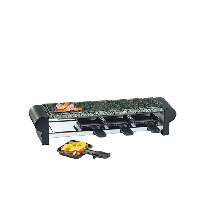 Raclette grill hot stone per 4 persone