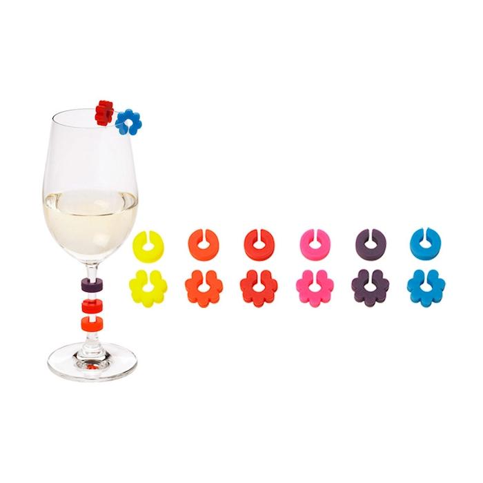 Segnabicchieri in silicone colori assortiti