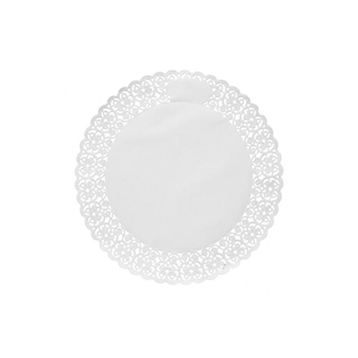 Pizzi tondi in carta bianca cm 32
