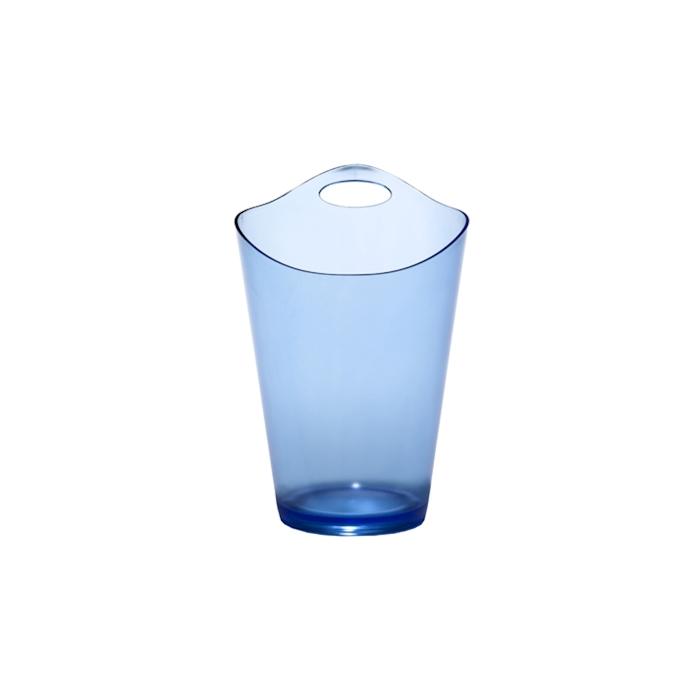 Secchiello Salsa in plastica azzurro satinato cm 28x19