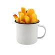 Tazza mug in metallo smaltato bianco cl 40