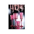 Calice Lady Diamond in vetro rosa cl 19