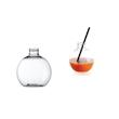 Flaconi Sfera senza tappo in plastica trasparente cl 25