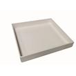 Vassoio Quadro in  acrilico bianco cm 30x30x4
