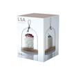 Vassoio tondo in frassino con cupola in vetro cm 15