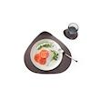 Piattino Ameba Wenge 100% Chef in melamina cm 12x11