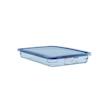 Contenitore 1/1 in plastica azzurra con coperchio altezza cm 6,5