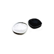 Piattino quadro Pebble in porcellana bianca cm 8,5