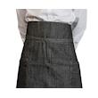 Grembiule Banconiere Jeans con tasche e spacco in cotone nero cm 90x95
