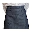 Grembiule Banconiere Jeans con tasche e spacco in cotone blu cm 90x95