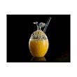 Bicchiere Mango 100% Chef con cannuccia in vetro borosilicato cl 50