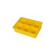 Stampo ghiaccio 6 cubetti in silicone giallo