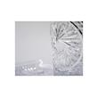 Set vintage Glaske con vassoio e secchiello in vetro decorato