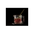 Lattiera vintage Glaske in vetro decorato cl 21
