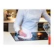 Tovagliolo Roll-Drap in microfibra con bordo rosa cm 40x40