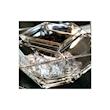 Set caviale torcello Vidivi in vetro con cucchiaino acciaio cm 14x14x10