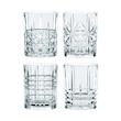 Set bicchieri Highland whisky in vetro decori assortiti cl 34,5