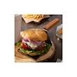 Spatola servi hamburger in acciaio inox con manico in legno cm 13x10,3