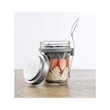 Barattolo colazione Kilner in vetro con cucchiaio in acciaio inox 35 cl