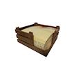 Portatovaglioli in fibra di legno colore naturale cm 14x14x6,7