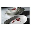 Piatto piano Freestyle Performance Steelite in ceramica vetrificata bianca cm 37,5x24,5