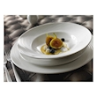 Piatto fondo Spyro Distinction Steelite in ceramica vetrificata bianca cm 23,5