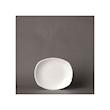 Piatto piano Spyro Distinction Steelite in ceramica vetrificata bianca cm 15x13