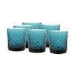 Bicchiere acqua Broadway in vetro blu cl 30