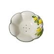 Bowl lavafrutta Limoni con piatto in ceramica dipinta a mano cm 29