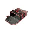 Borsa termica per pizza in nylon cordura nera e rossa cm 52x52x20