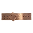 Bar mat con griglia e fori tondi in acciaio inox ramato cm 47x10,8x1,6