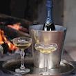 Secchiello vino e champagne in alluminio silver cm 20x20,5