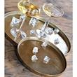 Vassoio tondo Small in alluminio gold cm 25