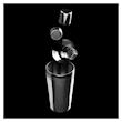 Shaker 4 pezzi Bruno Vanzan made in Italy in acciaio inox