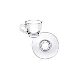 Piatto per tazza caffè Ischia in vetro cm 12
