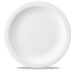 Piatto piano Linea Nova Churchill in ceramica vetrificata bianco cm 30,5