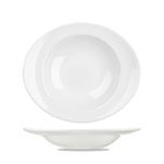 Piatto pasta ovale Linea Orbit Churchill in ceramica vetrificata bianco cm 31x26,5