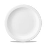 Piatto piano Linea Nova Churchill in ceramica vetrificata bianco cm 25,4