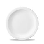 Piatto piano Linea Nova Churchill in ceramica vetrificata bianco cm 20,3