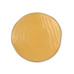 Piatto piano Mediterraneo in ceramica gialla cm 27,5
