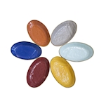 Vassoio ovale Mediterraneo in ceramica colorata cm 27x16