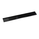 Bar mat Striscia in gomma nera cm 59x7,5