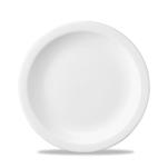Piatto piano Linea Nova Churchill in ceramica vetrificata bianco cm 23